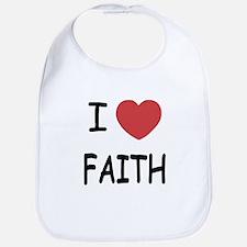 I heart faith Bib