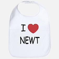 I heart newt Bib