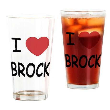 I heart brock Drinking Glass