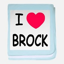 I heart brock baby blanket