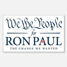 People for Ron Paul Decal