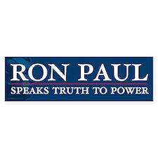Ron Paul Speaks Truth Bumper Sticker