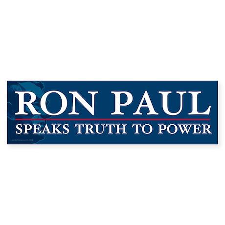Ron Paul Speaks Truth Sticker (Bumper)