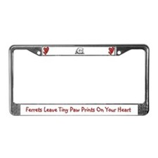 Ferret's Leave Tiny Paw Prints License Plate Frame