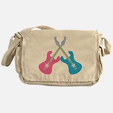 Guitar Rock Pink N Blue Messenger Bag