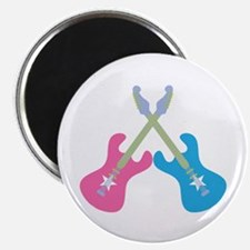 Guitar Rock Pink N Blue Magnet