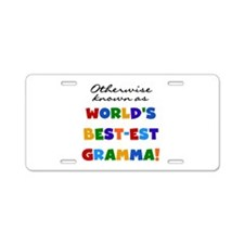 Otherwise Known Best Gramma Aluminum License Plate