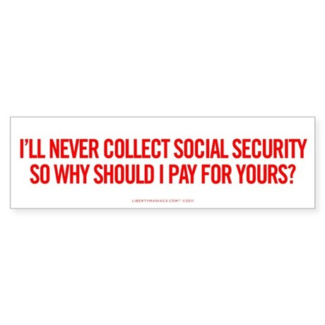 Social Security Sticker (Bumper)