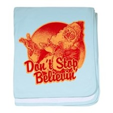 Don't Stop Believing in Santa baby blanket