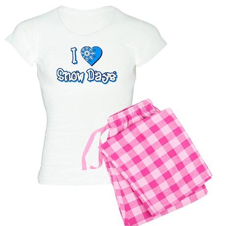 I Love [Heart] Snow Days Women's Light Pajamas