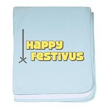 Happy Festivus baby blanket