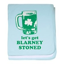 Let's Get Blarney Stoned baby blanket