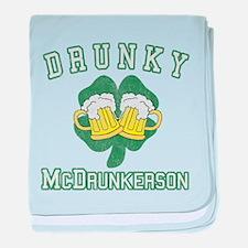 Drunky McDrunkerson baby blanket