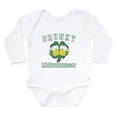 Drunky McDrunkerson Long Sleeve Infant Bodysuit