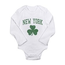 New York Irish Long Sleeve Infant Bodysuit