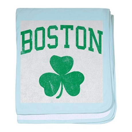 Boston Irish baby blanket
