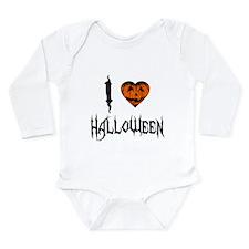 I Love Halloween Long Sleeve Infant Bodysuit