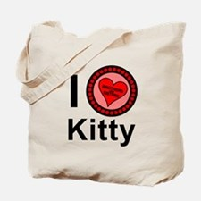 I Love Kitty Brothers & Sisters Tote Bag