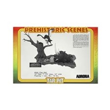 Cute La brea tar pits Rectangle Magnet
