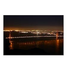 San Francisco Night Skyline Postcards (8)