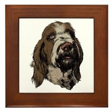 Cute Spinone italiano Framed Tile