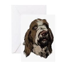 Cute Spinone Greeting Card