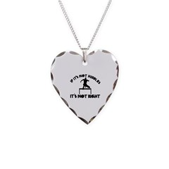 If it's not hurdles it's not right Necklace