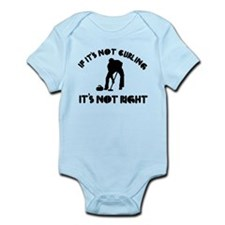 If it's not curling it's not right Infant Bodysuit
