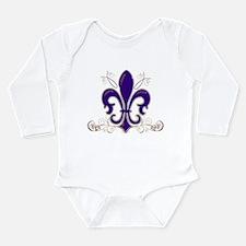 Fleur De Lis 3 Long Sleeve Infant Bodysuit