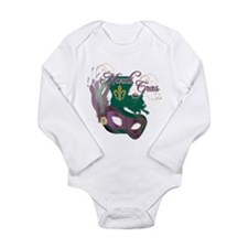 Mardi Gras 4 Long Sleeve Infant Bodysuit