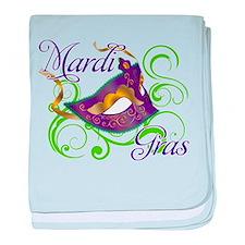 Mardi Gras Design 5 baby blanket