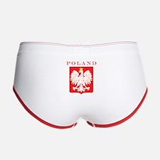 Poland Eagle Red Shield Women's Boy Brief