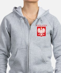 Poland Eagle Red Shield Zip Hoodie