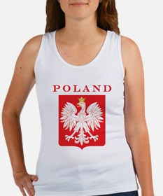 Poland Eagle Red Shield Women's Tank Top