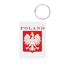 Poland Eagle Red Shield Aluminum Photo Keychain
