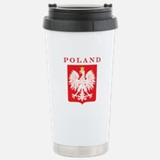 Poland Eagle Red Shield Travel Mug