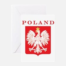 Poland Eagle Red Shield Greeting Card