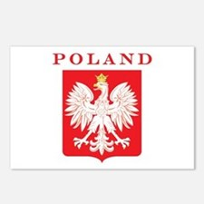 Poland Eagle Red Shield Postcards (Package of 8)