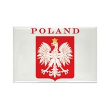 Poland Eagle Red Shield Rectangle Magnet