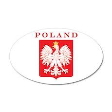 Poland Eagle Red Shield 22x14 Oval Wall Peel