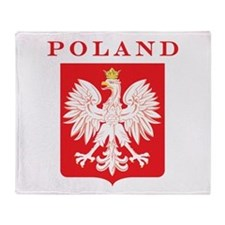 Poland Eagle Red Shield Throw Blanket