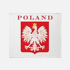 Poland Eagle Red Shield Throw Blanket