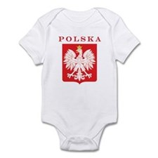 Polska Eagle Red Shield Infant Bodysuit