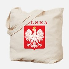 Polska Eagle Red Shield Tote Bag