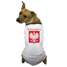 Polska Eagle Red Shield Dog T-Shirt