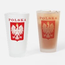 Polska Eagle Red Shield Drinking Glass