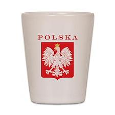 Polska Eagle Red Shield Shot Glass