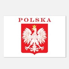 Polska Eagle Red Shield Postcards (Package of 8)