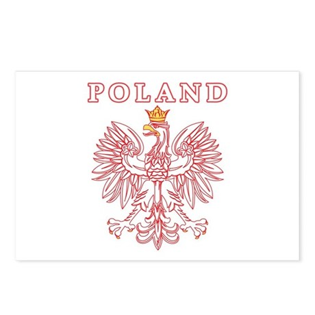 Poland Red Polish Eagle Postcards (Package of 8)