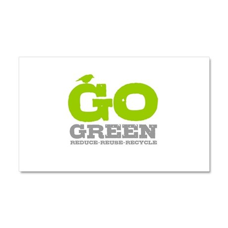 Go Green For Earth Day Car Magnet 20 x 12